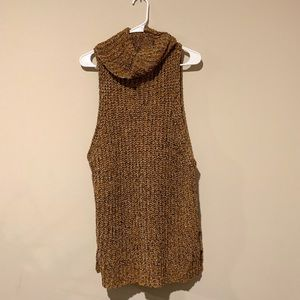 Free People Cowl Neck Sleeveless Sweater